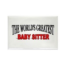 """""""The World's Greatest Baby Sitter"""" Rectangle Magne"""