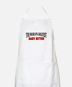 """""""The World's Greatest Baby Sitter"""" BBQ Apron"""