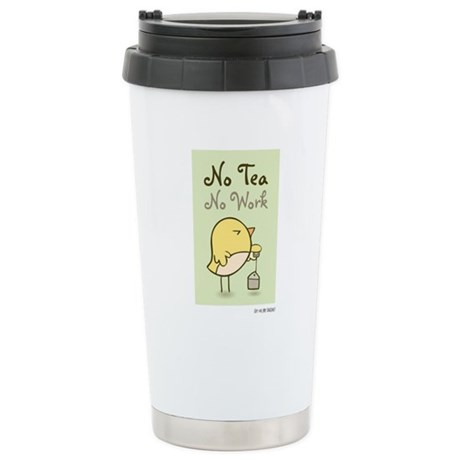 OMB - No tea, no work Travel Mug
