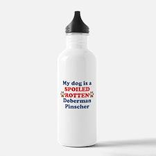 Spoiled Rotten Doberman Pinscher Water Bottle