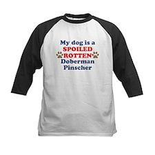 Spoiled Rotten Doberman Pinscher Baseball Jersey