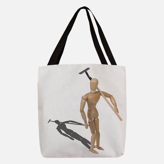CarryingGardeningHoe112611.png Polyester Tote Bag