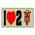 I Heart 2 Scoot Rectangle Sticker