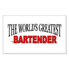 """""""The World's Greatest Bartender"""" Sticker (Rectangu"""