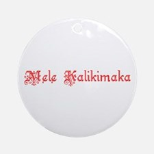 Hawaiian Merry Christmas Ornament (Round)