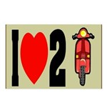 I Heart 2 Scoot Postcards (Package of 8)