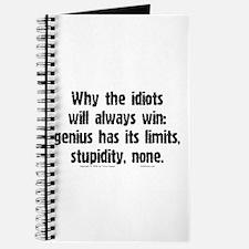 Idiots Win... Journal