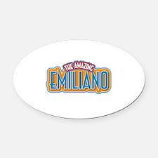 The Amazing Emiliano Oval Car Magnet