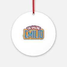 The Amazing Emilio Ornament (Round)