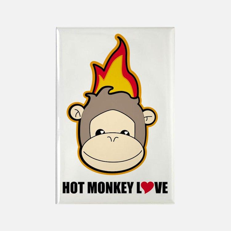 hot monkey love Magnets