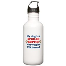 Spoiled Rotten Norwegian Elkhound Water Bottle