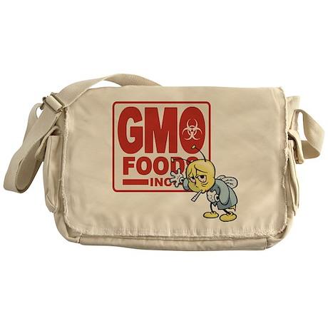GMO Foods -Bee Messenger Bag