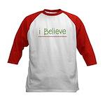 I believe (handwritten) Kids Baseball Jersey