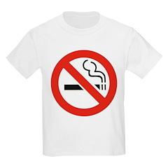 No Smoking Smokers (Front) Kids T-Shirt