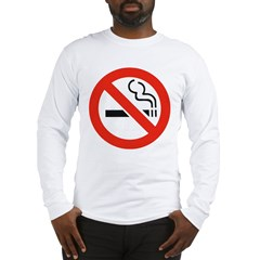 No Smoking Smokers (Front) Long Sleeve T-Shirt
