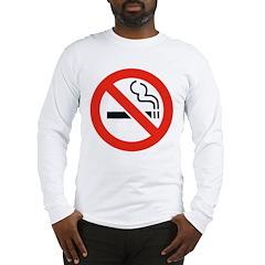 No Smoking Smokers (Front) Long Sleeve T-Shirt