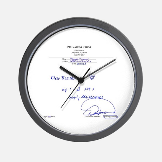 Prescription for Sanity Wall Clock