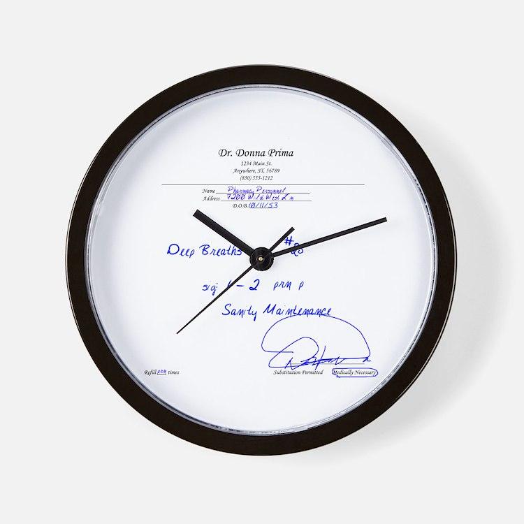 Prescription for Sanity Wall Clock