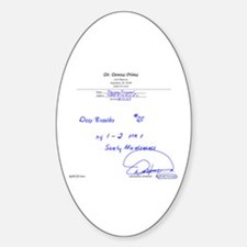 Prescription for Sanity Oval Decal