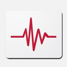Frequency pulse heartbeat Mousepad