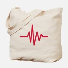 Frequency pulse heartbeat Tote Bag