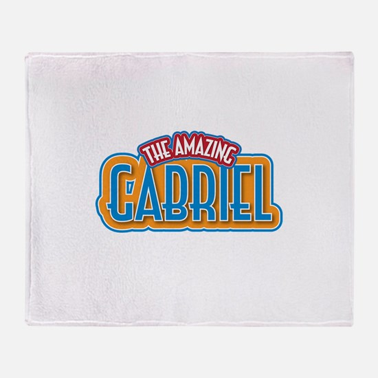 The Amazing Gabriel Throw Blanket