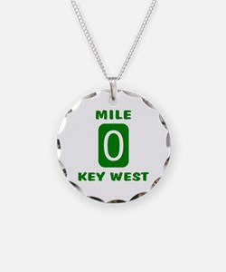 Mile 0 Key West Florida Necklace