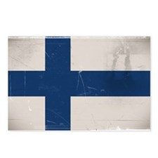 antiqued Finnish flag Postcards (Package of 8)