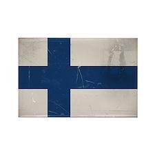 antiqued Finnish flag Rectangle Magnet