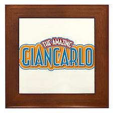 The Amazing Giancarlo Framed Tile