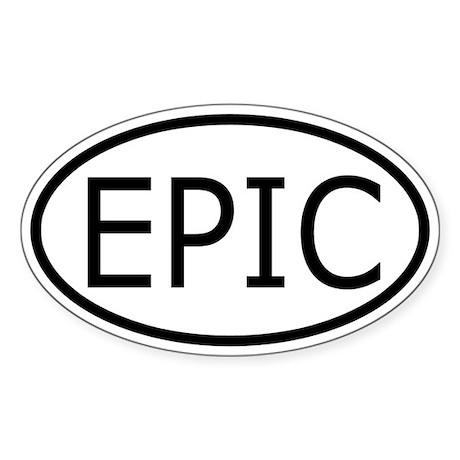 EPIC Oval Sticker