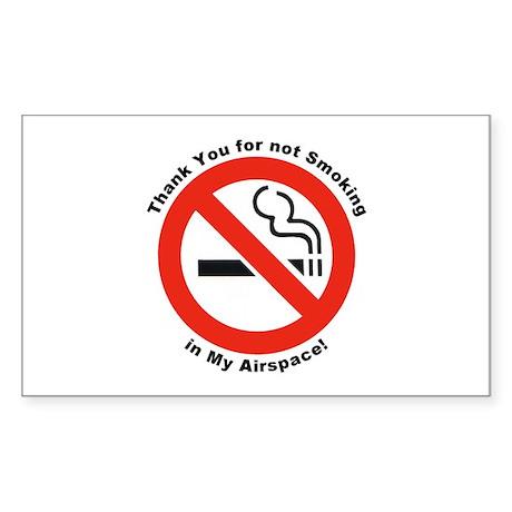 Please Don't Smoke Rectangle Sticker