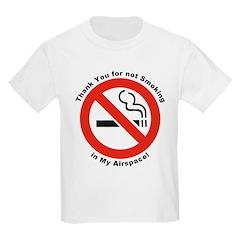 Please Don't Smoke (Front) Kids T-Shirt
