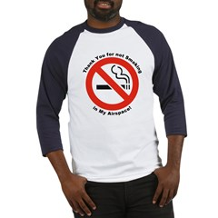 Please Don't Smoke (Front) Baseball Jersey