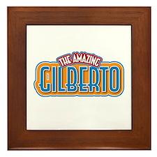 The Amazing Gilberto Framed Tile