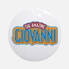 The Amazing Giovanni Ornament (Round)