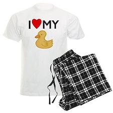 I Heart My Rubber Ducky Pajamas