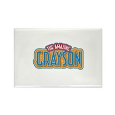 The Amazing Grayson Rectangle Magnet