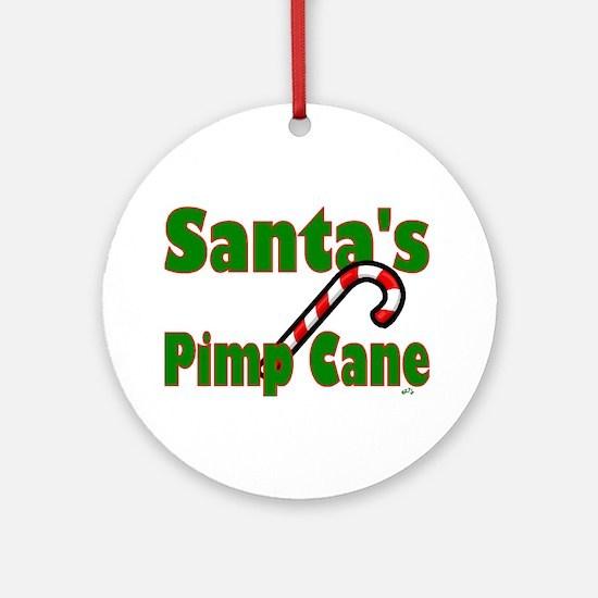 Santa's Pimp Cane Ornament (Round)