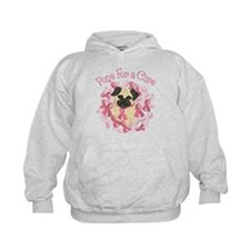 Pugs For A Cure Breast Cancer Pug Hoodie