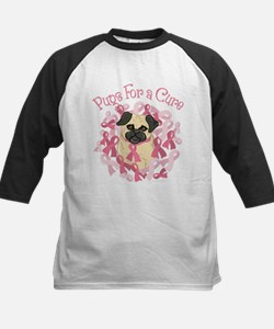 Pugs For A Cure Breast Cancer Pug Baseball Jersey