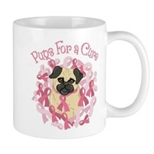 Pugs For A Cure Breast Cancer Pug Mug