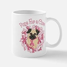 Pugs For A Cure Breast Cancer Pug Mug