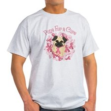 Pugs For A Cure Breast Cancer Pug T-Shirt