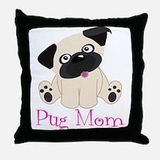 Pug Mom Throw Pillow