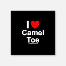 """Camel Toe Square Sticker 3"""" x 3"""""""