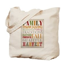 Happy Thanksgiving Subway Art Tote Bag