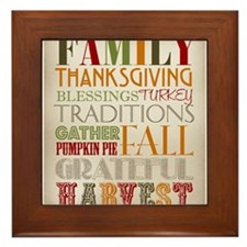 Happy Thanksgiving Subway Art Framed Tile