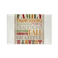 Happy Thanksgiving Subway Art Rectangle Magnet