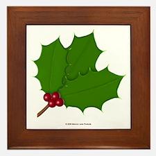 Christmas Holly-days Framed Tile